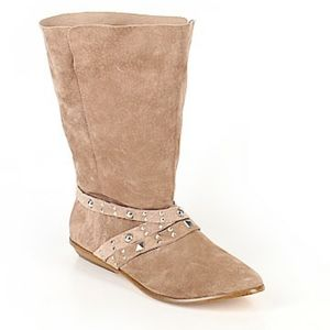 Decree Tan Suede Leather Size 7.5 MidCalf Boots